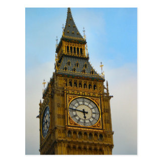 Around Britain,  Big Ben, Clock tower, Westminster Postcard