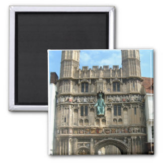 Around Britain,    Canterbury Cathedral gate Square Magnet