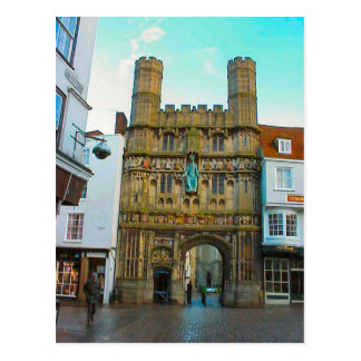 Around Britain,    Canterbury Cathedral gate Postcard