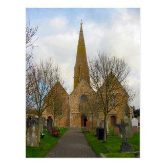 Around Britain,   Jersey, St Peter's Church Postcard