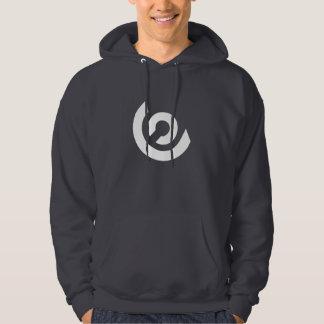 Around Logo Hoodie (Dark Grey/White)