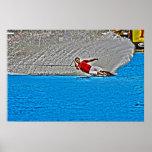 Around the Buoy-Slalom Waterski Poster