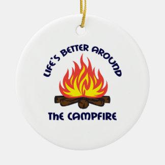 AROUND THE CAMPFIRE CHRISTMAS ORNAMENT