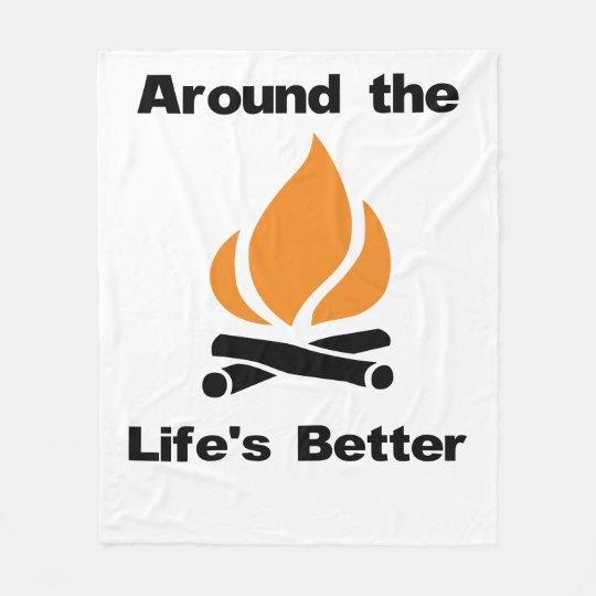 Around the Campfire Life's Better Fleece Blanket