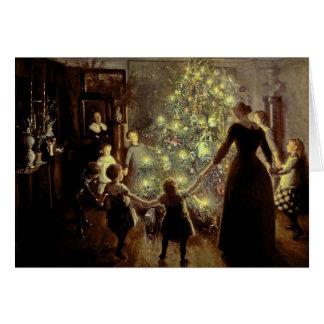 Around the Christmas Tree Greeting Card