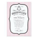 Around The Clock Bridal Shower Invitations 13 Cm X 18 Cm Invitation Card