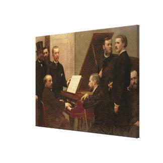 Around the Piano, 1885 Canvas Print
