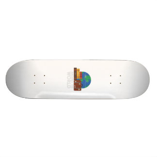 Around the world 19.7 cm skateboard deck