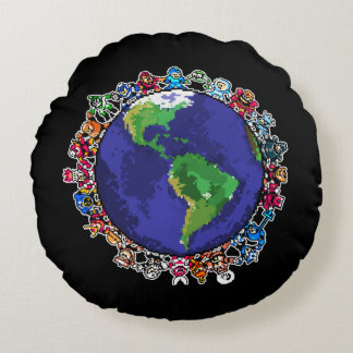Around the World 2 Round Cushion