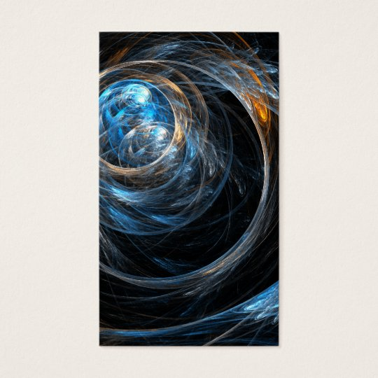 Around the World Abstract Art Business Card