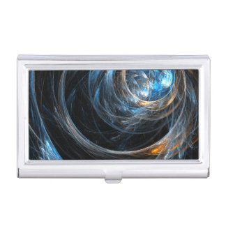 Around the World Abstract Art Business Card Holder