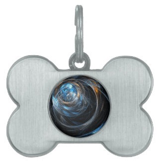 Around the World Abstract Art Pet Name Tag
