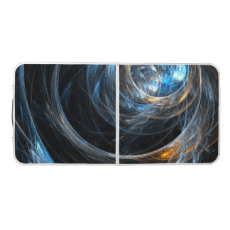Around the World Abstract Art Pong Table