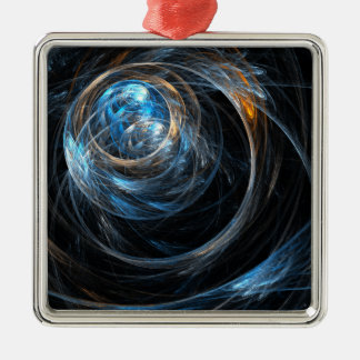 Around the World Abstract Art Square Christmas Ornament
