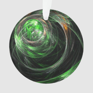 Around the World Green Abstract Art Acrylic Circle Ornament