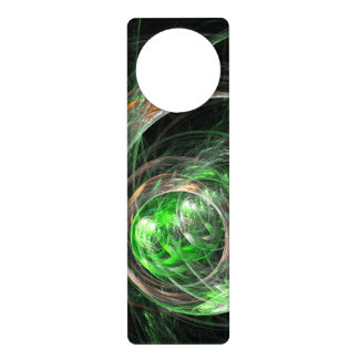 Around the World Green Abstract Art Door Knob Hanger