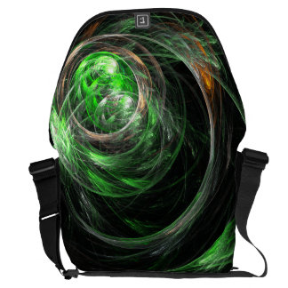 Around the World Green Abstract Art Large Bag Courier Bags