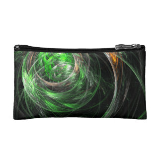 Around the World Green Abstract Art Makeup Bags