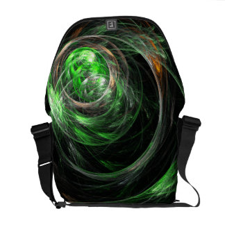 Around the World Green Abstract Art Messenger Bag