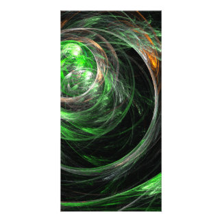 Around the World Green Abstract Art Photo Card