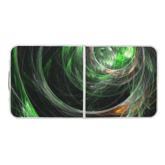 Around the World Green Abstract Art Pong Table