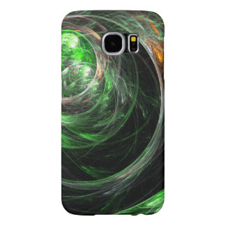 Around the World Green Abstract Art Samsung Galaxy S6 Cases