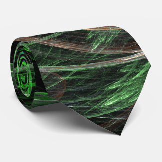 Around the World Green Abstract Art Tie