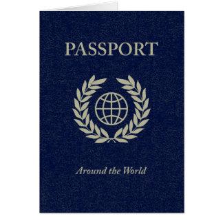around the world : passport greeting card