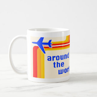 around the world : retro stripes coffee mug