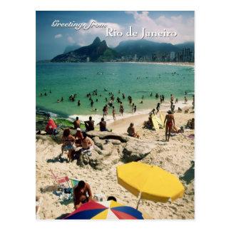 """""""Arpoador Beach, Rio de Janeiro"""" postcard"""