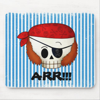 Arr Old School Pirate Skull Mousepads
