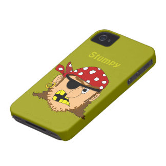 Arr Pirate Man With Bandanna and Eyepatch Custom iPhone 4 Case-Mate Case