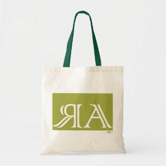 Arraias anagram, green. canvas bag