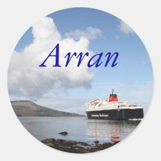 Arran, Scotland Round Sticker