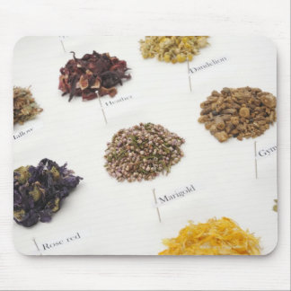 Arranged herbs mouse mat