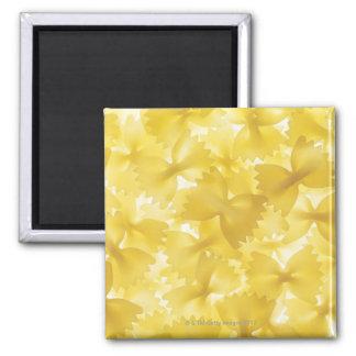 Arrangement of Organic Pasta Bows Square Magnet