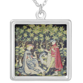 Arras Tapestry, Offering of the Heart Silver Plated Necklace