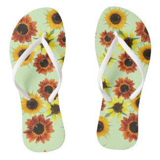 Array Colourful Sunflowers Flowers FlipFlops