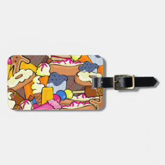 Array of abstract sweets luggage tag