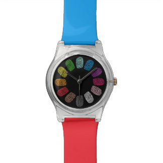 Array of Fingerprints Watch