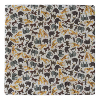 Array of Illustrated animals Trivets