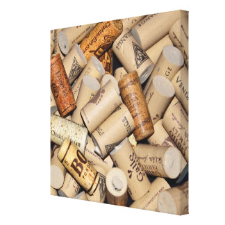 Array of wine bottle corks canvas print