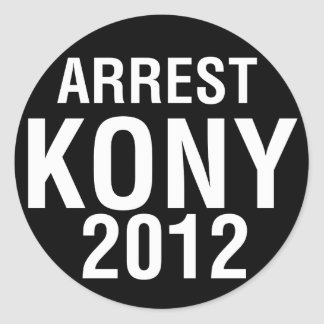 Arrest KONY 2012 round sticker
