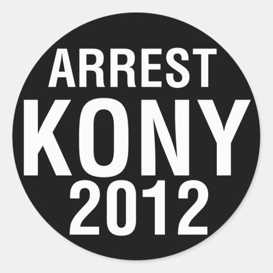 Arrest KONY 2012 round sticker