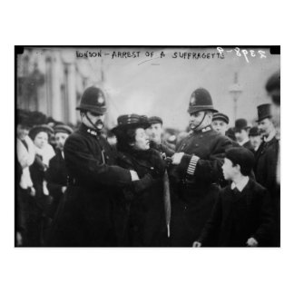 Arrest of a Suffragette in London England c 1910 Postcard