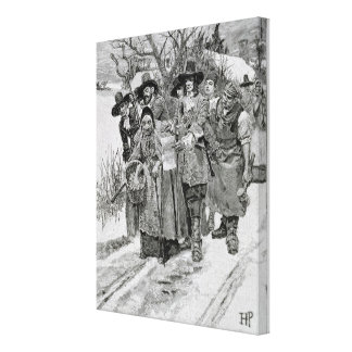 Arresting a Witch Canvas Print