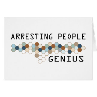 Arresting People Genius Card