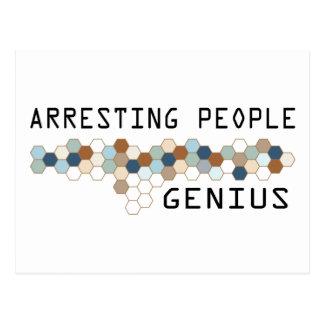 Arresting People Genius Postcard