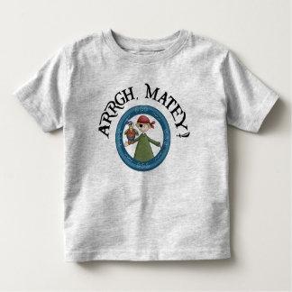 Arrgh Matey Pirate And Parrot Toddler Shirt