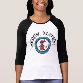 Arrgh Matey Pirate Boy 3/4 Sleeve Raglan Shirt